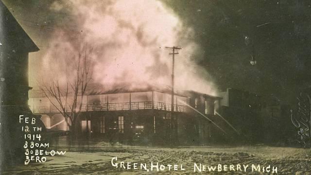 The Green Hotel burned on a frigid morning
